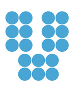 LiteMark 3.5 Inch Baby Blue Removable Adhesive Dot Decal Stickers for Fl... - $19.95