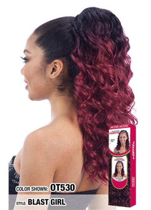 Model Model Drawstring Ponytail Curly Style And 50 Similar Items