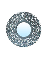 Decorative Hand Carved Indian Round Wall Mirror By TheKraftInc. Size : 2... - $147.89
