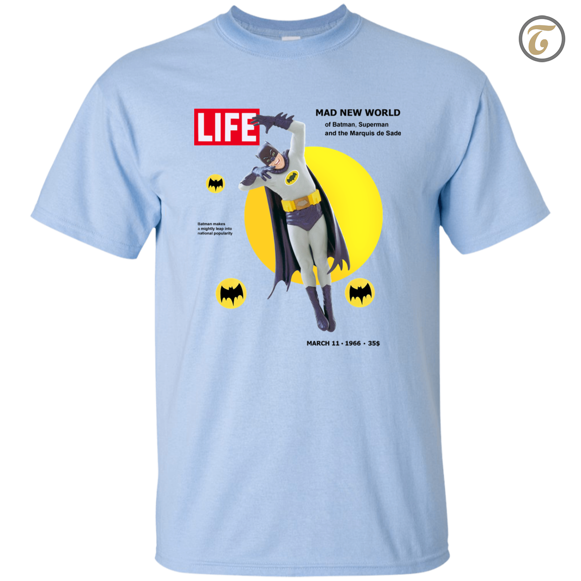 Batman, Life Magazine, Men's T-Shirt - Light Blue
