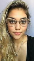 New Miu Miu VMU 35O  50mm Gold Cats Eye Women's Eyeglasses Frame  - $249.99