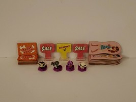 Littlest Pet Shop Lot Of 4 Teeniest Tiniest Pets Mall Madness Game + Spare Parts - $14.95