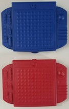 Travel Battleship Board Game 2009 Hasbro Red & Blue With All Pieces - $12.19