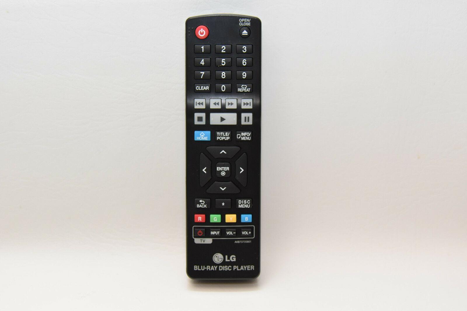 Genuine LG Remote Control for LG Blu-Ray Player AKB73735801 | Grade A | BO2