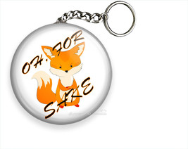 Oh For Fox Sake Funny Quote Keychain Key Fob Ring Chain Cute Cool Girl Gift Idea - $10.69+