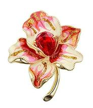 Crystal Flower Brooch Corsage Sweater Accessories Pins Scarf Shawl Deduction image 1