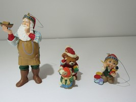 Lot of 3 1999 Hallmark Ornaments Arctic Artist, Mary's Bears, Toymakers Gift NIB image 2