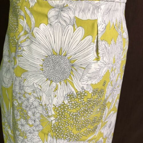J Crew Women's Dress Printed Erica Strapless Floral Yellow Cotton Size 6 $275 image 4