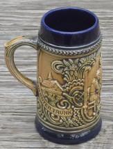 """Cobalt Blue GERMAN BEER STEIN Mug Germany """"EIN GUTER TRUNK IN FROHER RUND"""" - $9.49"""