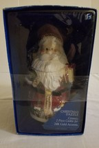 New Santa Cookie Jar Christmas Dazzle 24k Gold Accents by Zhancuo Factory - $20.76