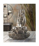 Buddha Metal Fountain Water Statue Peace Indoor Serene Zen Decor Budha Gift - $54.37
