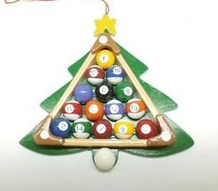 All Wood Billiard Ball Pool Christmas Tree Ornament - $9.89