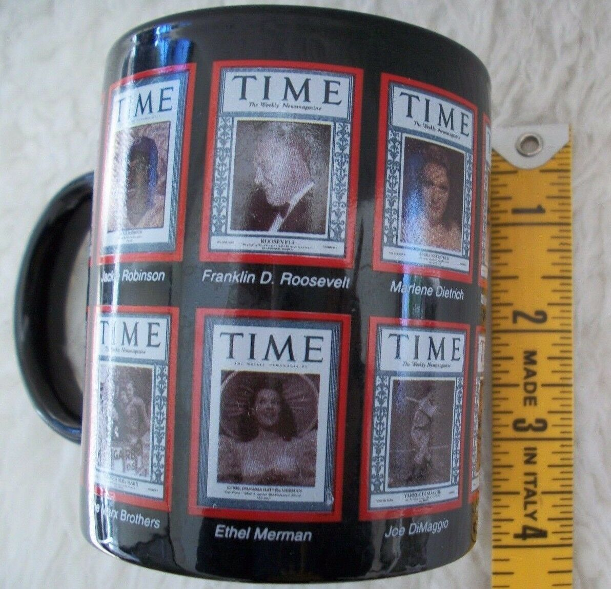 Vintage Time Magazine Covers Coffee Mug Cup Famous Sports Stars Historical Icons