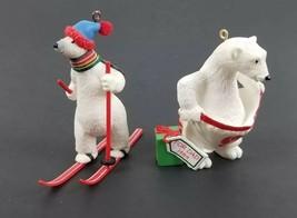 (Lot of 2) Going`Cross Country 1988 & Dad Polar Bear Hallmark Ornament 1... - $17.33