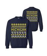 AW30 - Michigan Wolverines Holiday Ugly Sweater Crewneck Sweatshirt - La... - $29.99