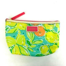 Lilly Pulitzer For Estee Lauder Makeup Bag Lemons Green Yellow Never Used - $9.90