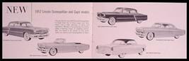 1952 Lincoln Quick Facts Brochure, Cosmopolitan, Capri - $8.95