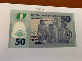 Nigeria 50 naira uncirc. polymer banknote 2019 - $5.95