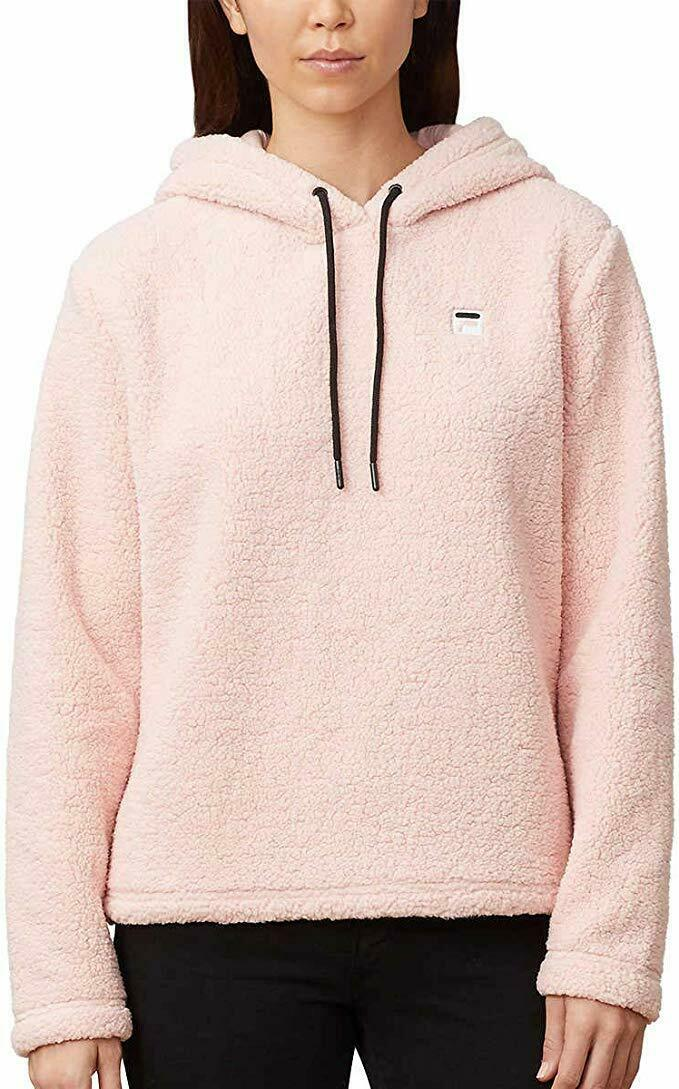 Primary image for Fila Womens Josephine Sherpa Crop Hoodie (Pink, XX-Large)