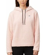 Fila Womens Josephine Sherpa Crop Hoodie (Pink, XX-Large) - $29.48
