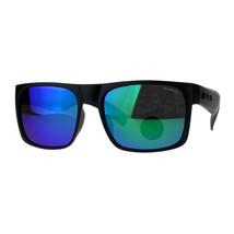 Polarized Lens Kush Sunglasses Mens Black Rectangular Frame Mirror Lens - $12.95