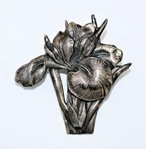 Vintage Rare Early Guglielmo Cini Sterling Iris Floral Figural Brooch Pin - $692.98