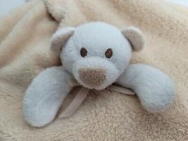 Blankets & Beyond Tan Brown Bear Baby Security Blanket Lovey Super Soft - $15.99