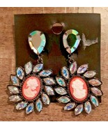 H&M Victorian Woman Petals Clip On Earrings - $30.05