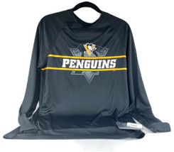 NHL Pittsburgh Penguins Men's Icing Long Sleeve Performance T-Shirt- Medium - $24.19