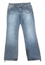 Rocawear Womens Capri Pants Size 5/6 Adjustable Hem Denim Blue Jeans Cotton - $9.89
