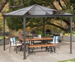 Hard Top Gazebo Aluminum Pergola Metal Large 10x10 Outdoor Canopy Shelte... - $766.91