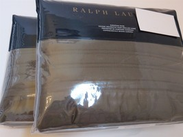 2 Ralph Lauren Reed Channel Quilted Euro shams Met Grey $290 - $103.50