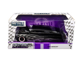 "1951 Mercury Black with Flames ""Big Time Kustoms\"" 1/24 Diecast Model C... - $34.30"