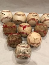 Lot of 10  League Baseball in POOR Condition Great for Crafts or Practice - $15.76
