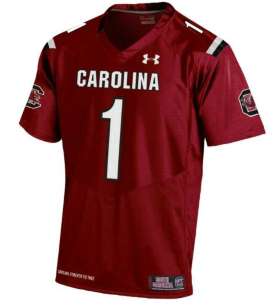 SOUTH CAROLINA GAMECOCKS ADULT JERSEY-LG,XL & 2XL -UNDER ARMOUR--RETAIL $100 - $49.99