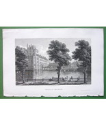 HOLLAND Palace at Hague - CPT BATTY 1826 Antique Print - $19.09