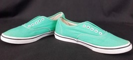 Vans Off the Wall Shoes Green Teal Blue No Laces Men US 6 Women US 7.5 - $23.99