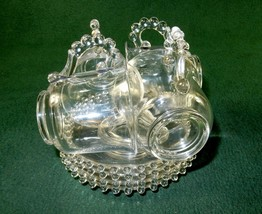 Set of 4 Glass Tea/Coffee Cups & Saucers ~ Vintage Candlewick Design, Imperial - $68.55