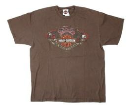 "HARLEY DAVIDSON Cotati California ""Tattoos the Bikers Journal"" Graphic T... - $24.74"
