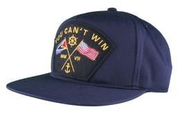 Motivation You Cant Win Naval Navy Blue Snapback Baseball Hat Cap NWT image 2