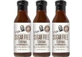 G Hughes Sugar Free Original Teriyaki Sauce 13 oz 3 Pack