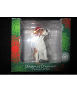 Sandicast Beagle with Santa Hat Christmas Ornament - $5.38