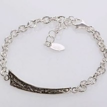 ARMBAND 925 SILBER RHODIUM HERREN BY MARIA IELPO MADE IN ITALY - $137.06