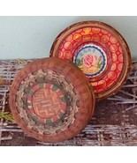 Wulung Chinese Tea Tin in Basket.  Vintage Woven Basket and Tea Tin. - $145.00