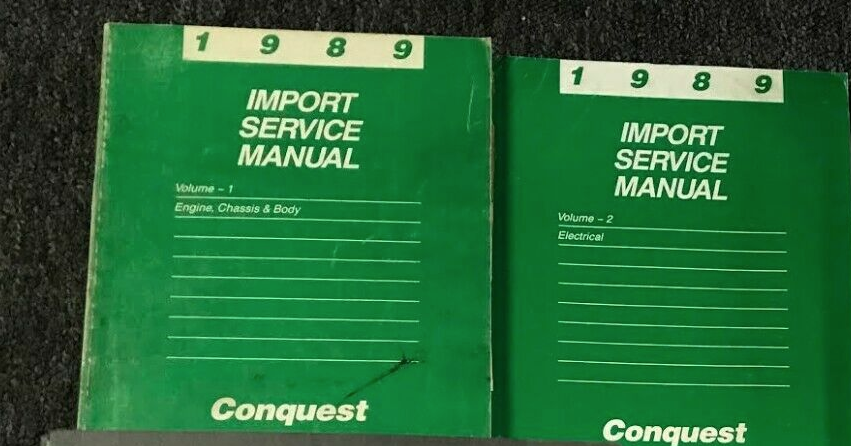 Primary image for 1989 CHRYSLER CONQUEST Service Repair Shop Workshop Manual Set OEM