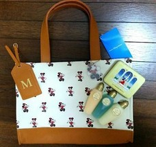 Tokyo Disneyland Hotel Official Hand bag tote Brown with Mickey Charm Mi... - $185.13