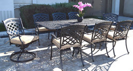9 piece patio dining set cast aluminum St. Augustine chairs and Elisabeth table. image 3