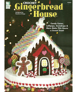 Crochet Pattern Holiday Christmas Gingerbread House 101061 Rosanne Kroppe - $9.05
