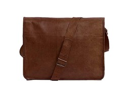 Professional Devil Vintage Leather Messenger Bag 11'' Rustic Laptop Brow... - $36.00