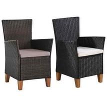 vidaXL 2x Outdoor Dining Armchair Poly Rattan Wicker Garden Patio Seat 2... - $119.99+